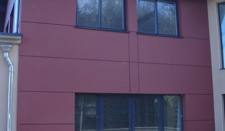 Panneaux en Fibre de ciment rouge
